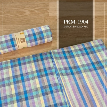 Picture of Baby Blue plaid Thai loincloth