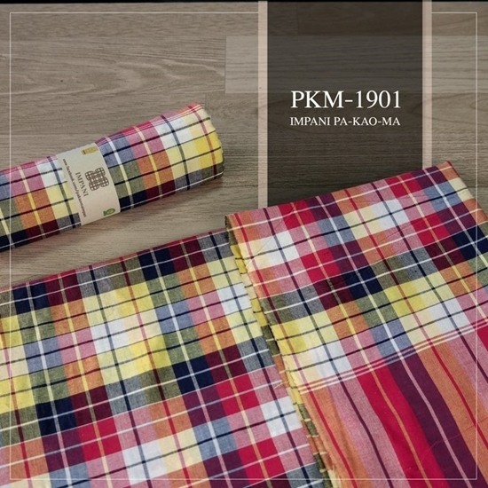 Picture of Sun set scotch plaid Thai loincloth