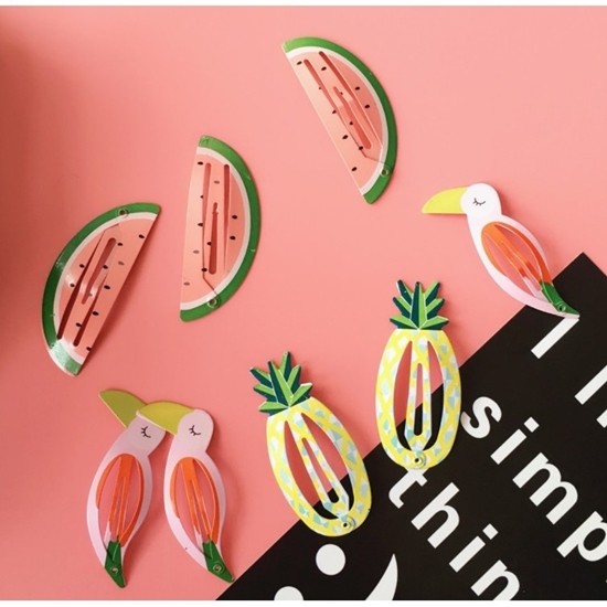 Picture of Summer tropical hair clip (3 pairs)