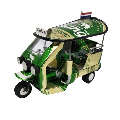 Picture of TukTuk Classic model Handmade from Beer Can