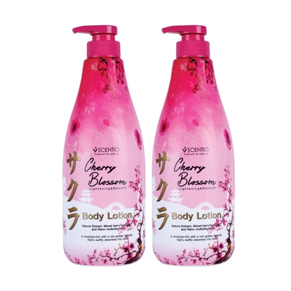 Picture of (2 Pcs.) Scentio Cherry Blossom Lightening&Smooth Body Lotion 700 ml.