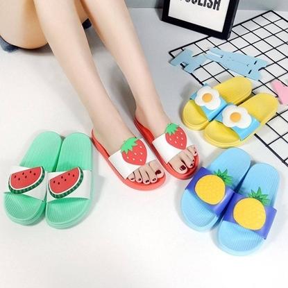 Picture of รองเท้าแตะยาง รูปผลไม้
