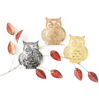 Picture of Three owls Iron Wall art Home decor