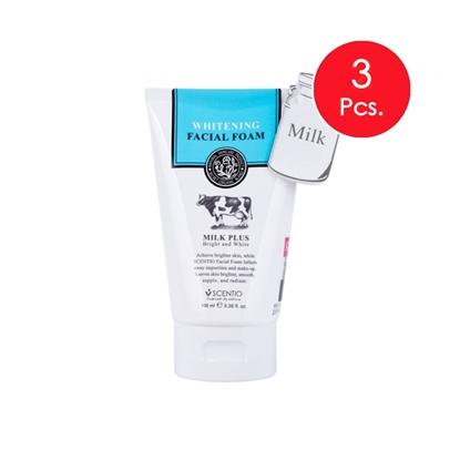 Picture of (3pcs.) Scentio Milk Plus Whitening Q10 Facial Foam 100 ml.