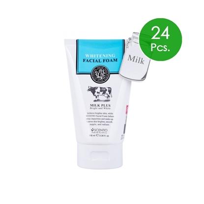 Picture of (24pcs.) Scentio Milk Plus Whitening Q10 Facial Foam 100 ml.
