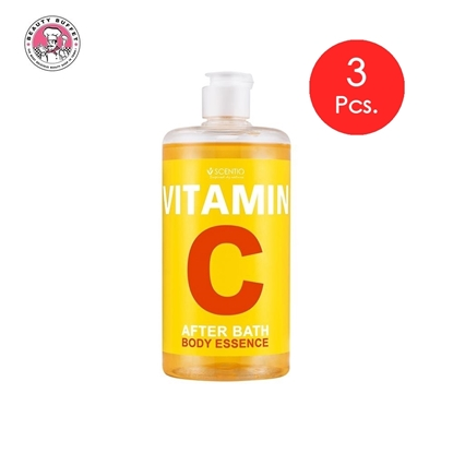 Picture of (3pcs.) SCENTIO VITAMIN C AFTER BATH BODY ESSENCE 450 ml.