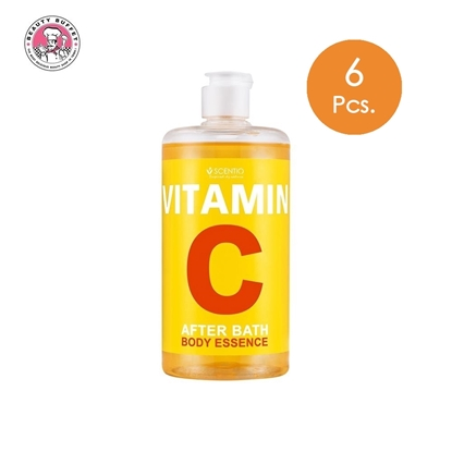Picture of (6pcs.) SCENTIO VITAMIN C AFTER BATH BODY ESSENCE 450 ml.