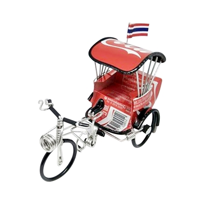 Picture of Tricycle Model Handmade  from Thai Coca Cola Cans