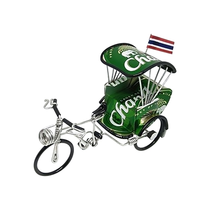 Picture of Tricycle Model Handmade from Thai Beer Can