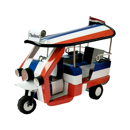 Picture of TukTuk Classic model Handmade - The National Flag of Thailand