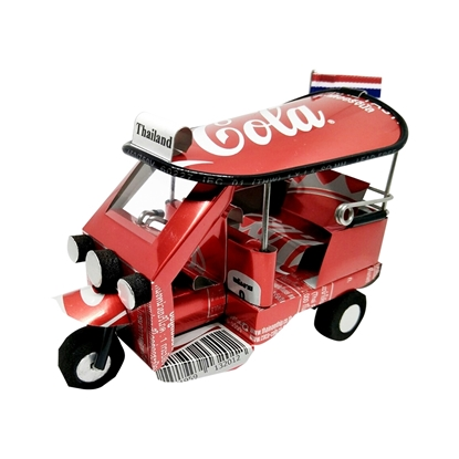 Picture of TukTuk Classic model Handmade from Coca Cola Can