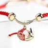 Picture of Red String Bracelet  with Mouse