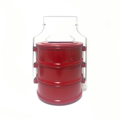 Picture of Thai Enamelware - Red Lunch Box 3 Tier