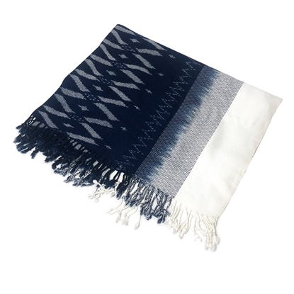 Picture of Indigo cotton thai pattern scarf