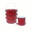Picture of Thai Enamelware - Couple set Lunch Box 3 Tier & Cup 11cm.
