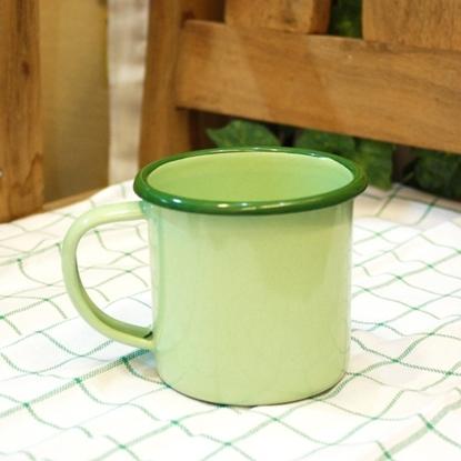 Picture of แก้วโบราณ มีหูจับ ขนาด 9 cm - สีเขียว