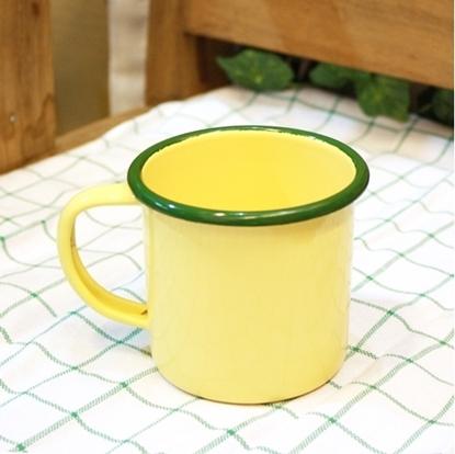 Picture of แก้วโบราณ มีหูจับ ขนาด 9 cm - สีเหลือง
