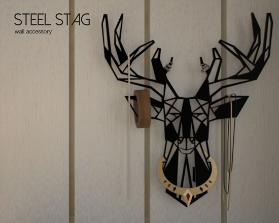 Picture of Steel Stag Wall Accessory
