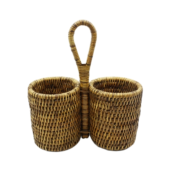 Picture of Rattan double bottle holder