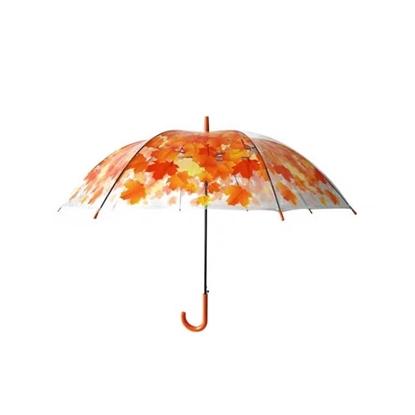 Picture of ร่ม ลายใบเมเปิ้ล สีส้ม