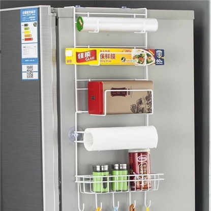 Picture of ที่แขวนข้างตู้เย็นสีขาว 6 ชั้น