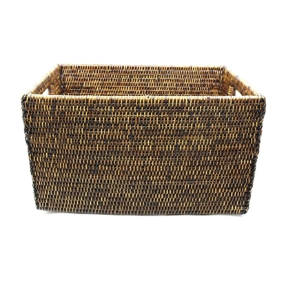 Picture of Tall rattan towel basket