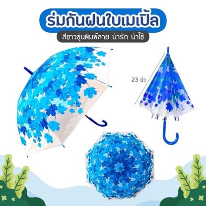 Picture of ร่ม ลายใบเมเปิ้ล สีฟ้า