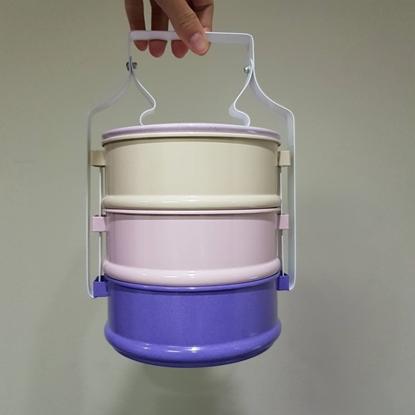 Picture of ปิ่นโต 3 ชั้น 14 cm - สีม่วงพาสเทล