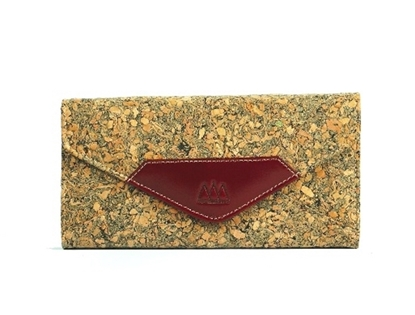 Picture of Dark Brown Cork Wallet with Chain