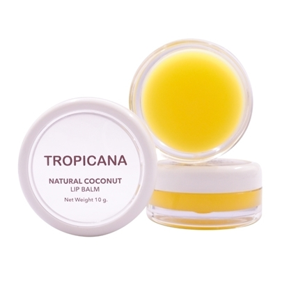 Picture of Natural Coconut Lip Balm Banana Happy 10 g.