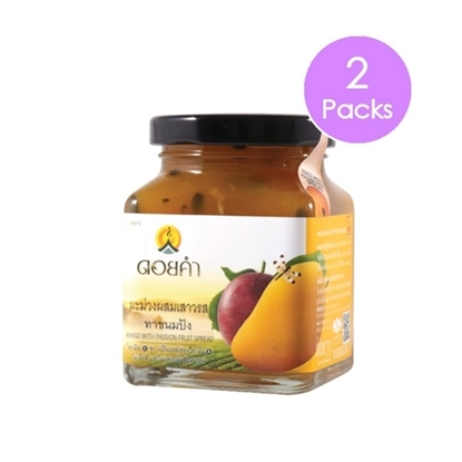 Picture of Doikham Mango mixed passion fruit spread 220 g (2 packs)