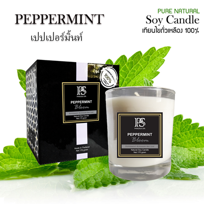 Picture of Soy Wax Candle - Peppermint