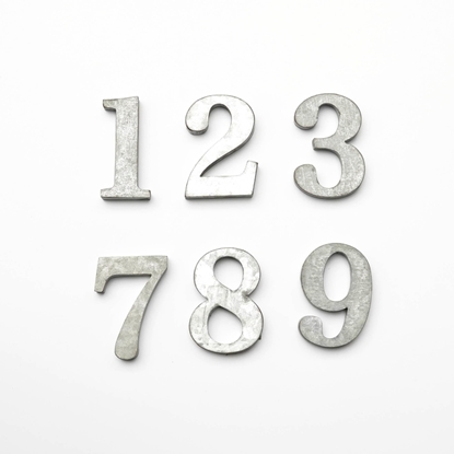 Picture of Alphabets numbers and symbols Galvanize - 6.5 cm