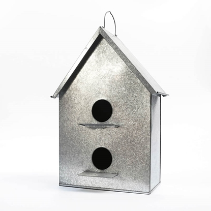 Picture of Bird House Galvanize plant holder