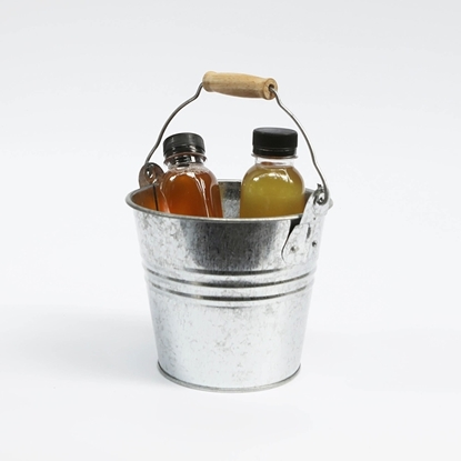 Picture of Galvanize Bucket with Wooden Handle (Medium Size)