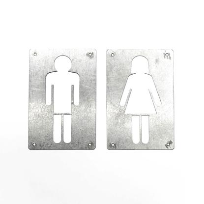 Picture of แผ่นสัญลักษณ์ชายและหญิงสังกะสี
