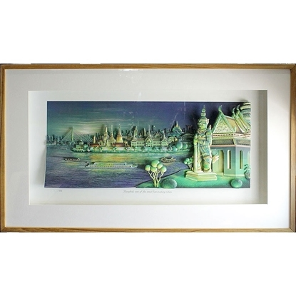Picture of 3D Picture Frame -Bangkok night Riverside