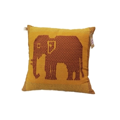 "Picture of PHUTHAIFAINGAM Handmade cotton pillow cover - Khit Chang Yai Pattern Size 16"" x 16"""