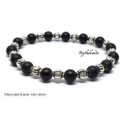 Picture of สร้อยข้อมือ Onyx / Silver