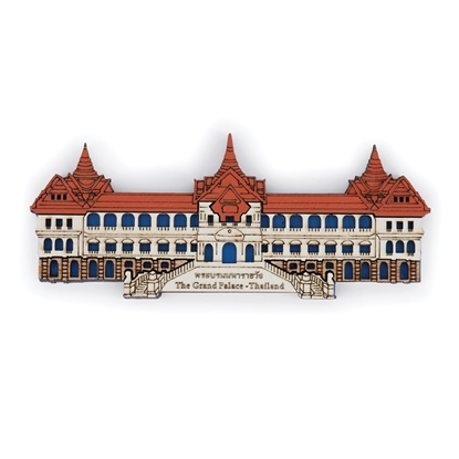 Picture of Thailand Souvenir Wooden Fridge Magnet: The Grand Palace