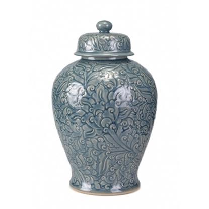 Picture of Blue Celadon Ginger Jar Celadon
