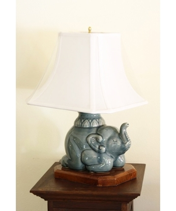 Picture of โคมไฟรูปช้างสีฟ้า