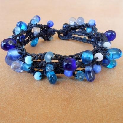 Picture of Bubble beaded Bracelet, Wax String Bracelet Jewelry Thailand Handmade.