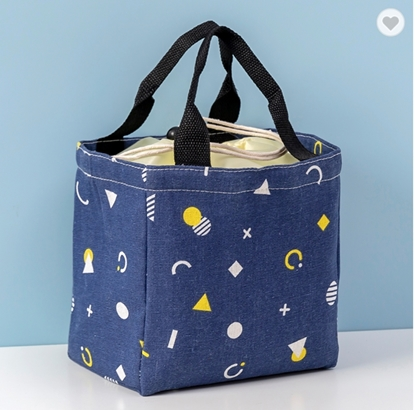 Picture of Cooler Lunch Bag - Navy Geometry