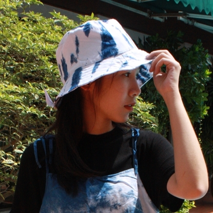 Picture of Indigo Tiedye Bucket Hat