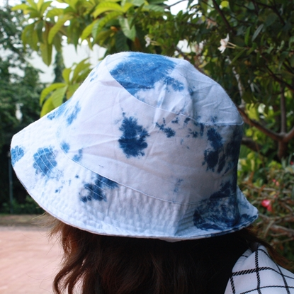 Picture of Indigo Tiedye Bucket Hat (2 hats in 1)
