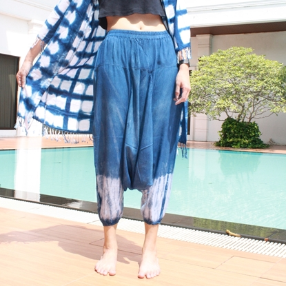 Picture of Indigo Tiedye Hmong Pants