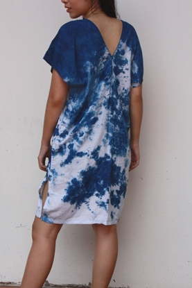 Picture of Indigo Tiedye Karen Dress