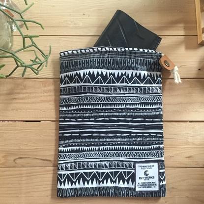 Picture of Black Line Drawstring Bag