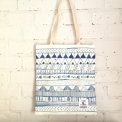 Picture of Blue Line Fabric Tote Bag